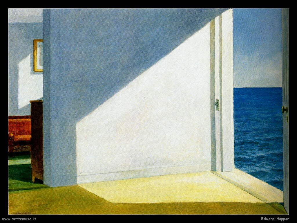 Edward Hopper : Morning light at the sea . The eternity of space-time