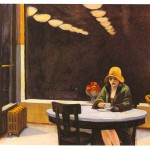 Edward Hopper: A snapshot-like painting of a lonely woman at night