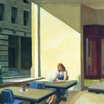 """Edward Hopper: Sunlght in a cafeteria, or """"And God created light""""."""