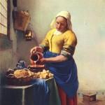 Vermeer: La donna che versa il latte.