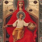 Russia: La Madonna e Gesù in trono