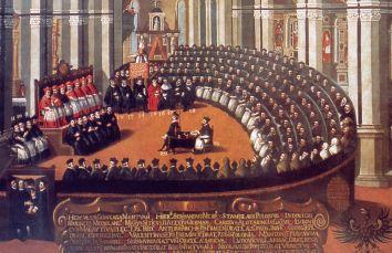 Il Concilio di Trento (1545-1563)  in seduta plenaria