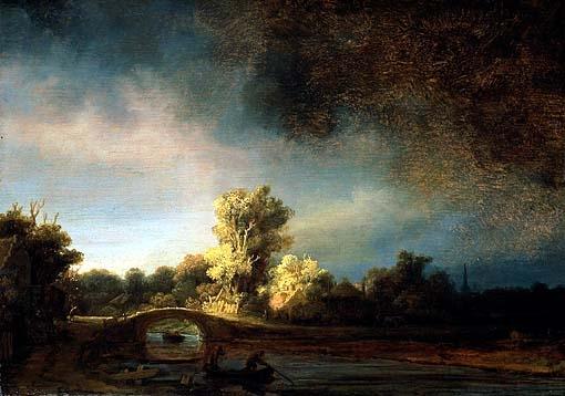 Rembrandt : il ponte di pietra, straordinario capolavoro post-giorgionesco del maestro di Leyda.