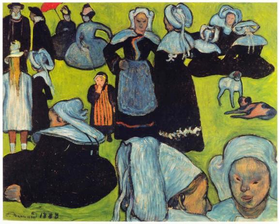 Emile Bernard : Donne bretoni.