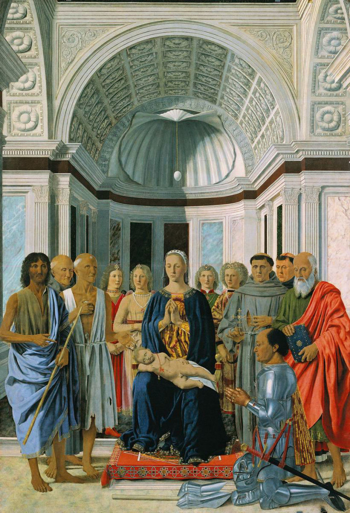 Piero della Francesca: Sacra Conversazione, all'Accademia di Brera, Milano.