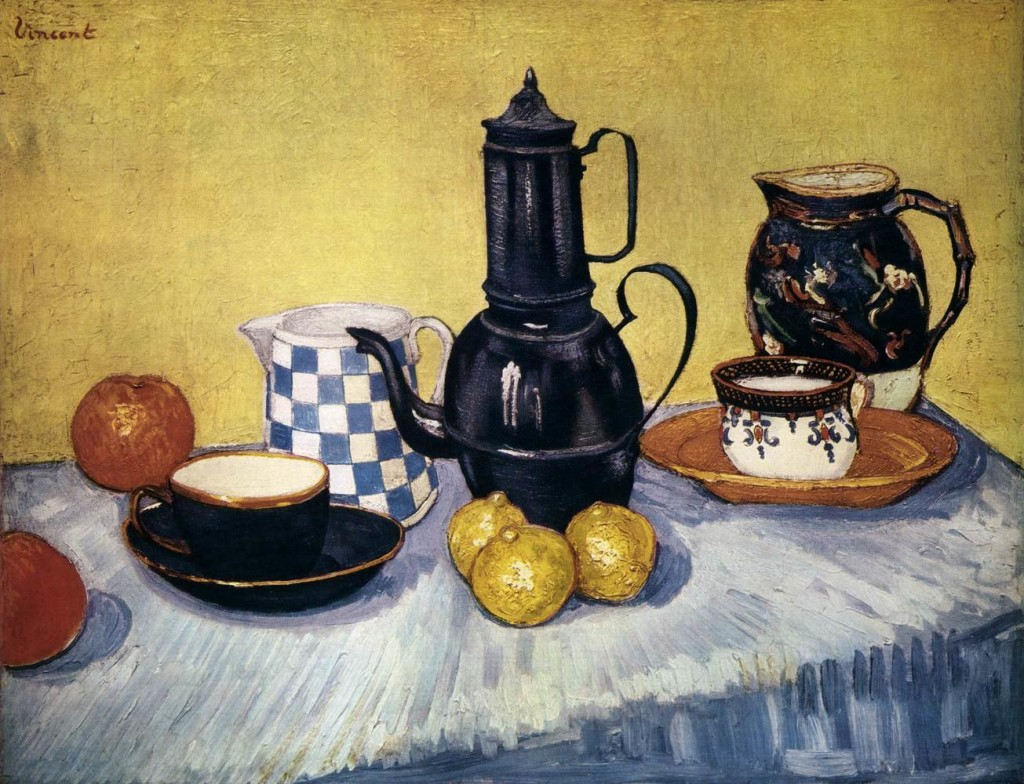 Vincent : Natura morta à la manière de Cézanne et Renoir