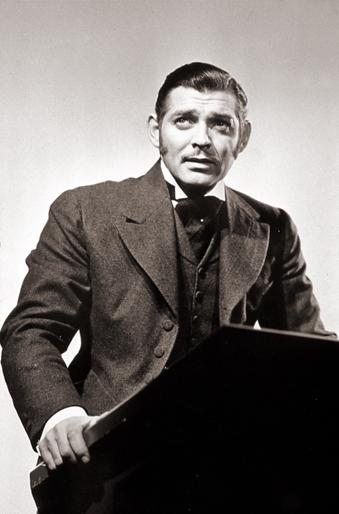 Clark Gable nel ruolo di Parnell in un film del 1937