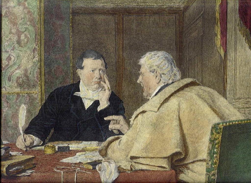 Avvocato inglese con il proprio cliente (XVIII) secolo).