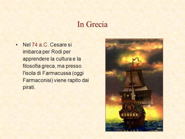 Cesare rapito dai pirati