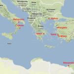 Cartina geografica con Mileto