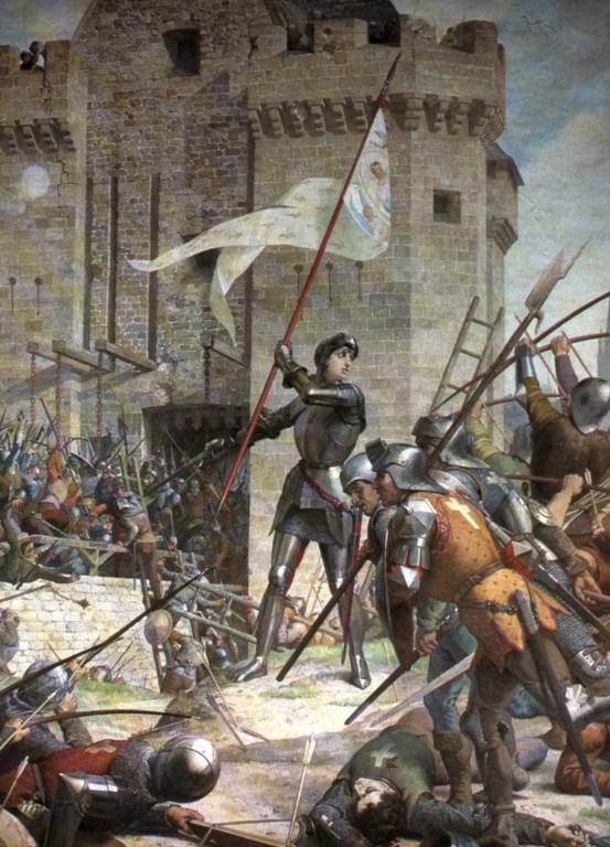 Jeanne all'assedio del castello d'Orléans.