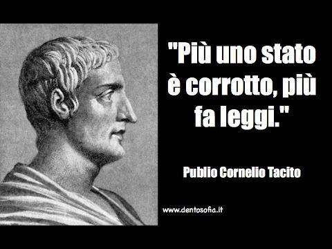 Tacito, sempre tacitiano e ...profetico.