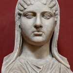 Busta di Aspasia: un esempio della scultura greca. Copia romana.
