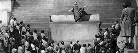 """Elogio funebre di Marco Antonio per Giulio Cesare (Marlon Brando """"Giulio Cesare"""", film del 1952)"""