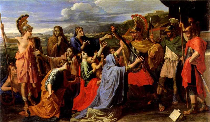 Nicolas Poussin : Volumnia ai piedi di Coriolano