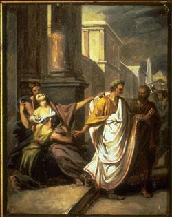 Giulio Cesare si reca in Senato