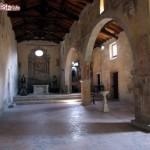 Castro dei Volsci, interno di una chiesa romanica , il Monastero di S. Nicola
