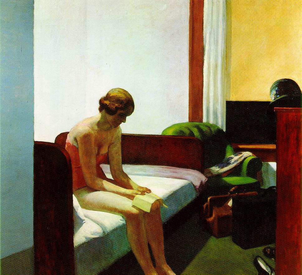 Edward Hopper (II) Donna sola, trafitta, dal sole, in un interno