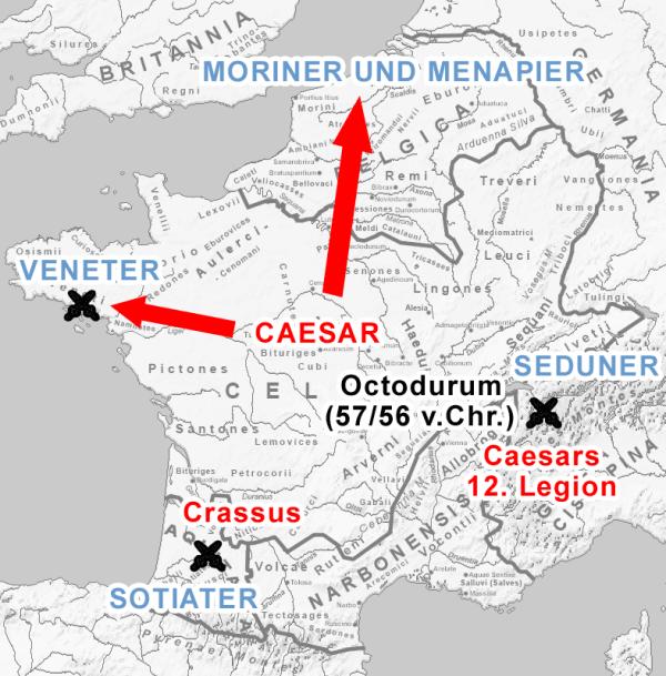 Mappa del De Bello Gallico