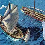 La flotta romana per invadere la Britannia