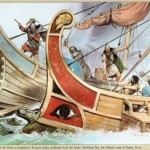 Nave romana attacca nave dei Veneti (Bretagna)