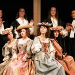 Le quattro donne, con i quattro uomini: Re di Navarra; Berowne; Dumain; Longaville