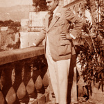Caruso all'Hotel Vittoria di Sorrento, pochi giorni prima di morire