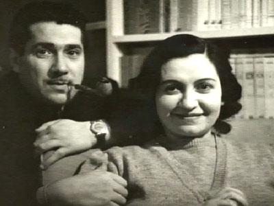 Con la moglie Rosetta