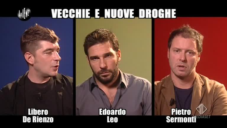 """Tre protagonisti del film """"Smetto quando voglio"""": il matematico (Di Rienzo), il Neuro-biologo (Leo), l'antropologo (Sermonti)"""