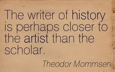 Mommsen era anche un grande artista