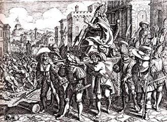 Matthäus Merian, Sacco di Roma 6 maggio 1527.