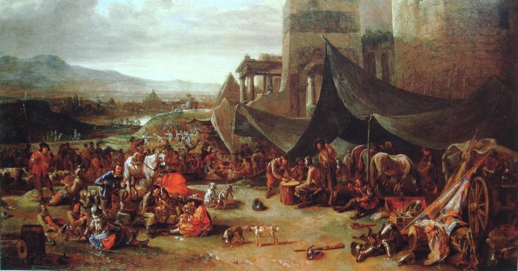 IL Sacco di Roma, 1527, di Johannes_Lingelbach,  XVII secolo
