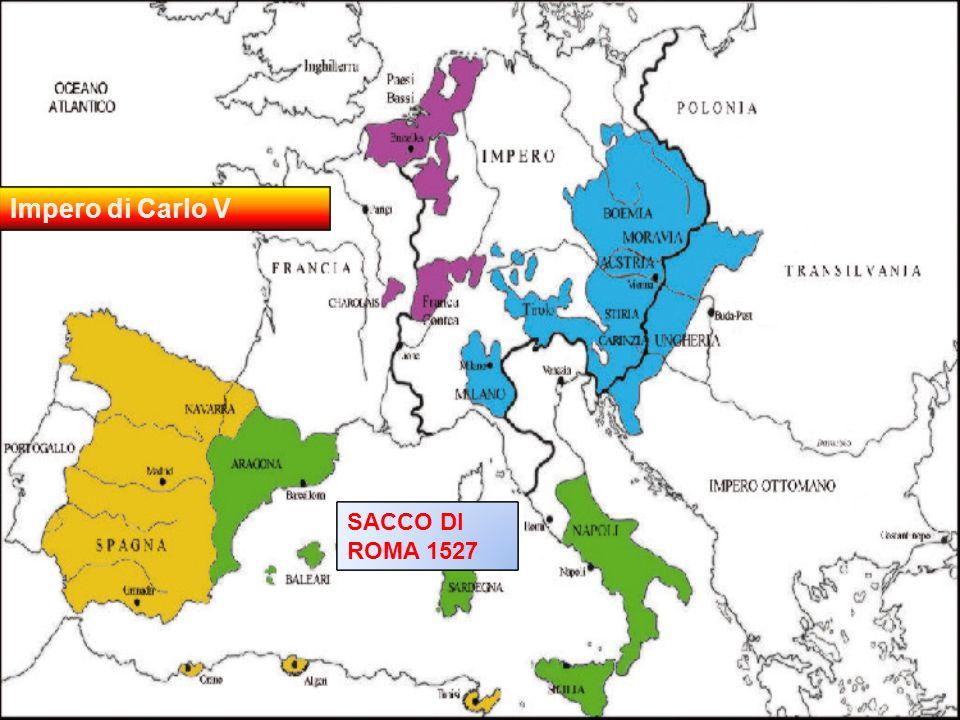 Impero di Carlo V all'epoca del Sacco