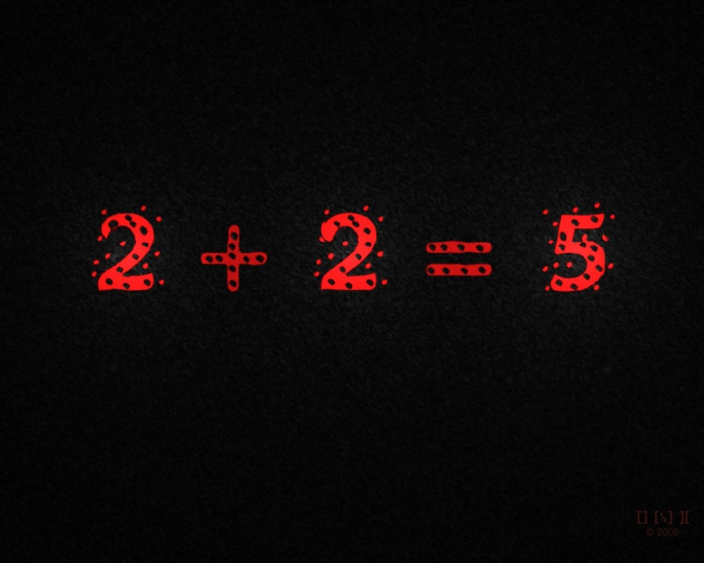 Il Grande Fratello vuole che 2+2 = 5