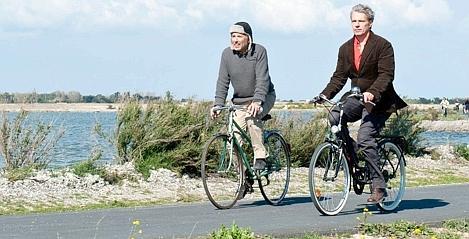"""Serge et Gauthier en """"Alceste à bicyclette"""""""