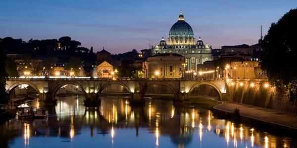 Roma: Il Tevere e il Cupolone