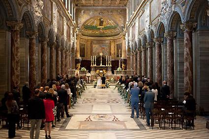 Roma : Basilica di San marco Evangelista. Contiene, tra l'altro, gli affreschi di Melozzo da Forlì