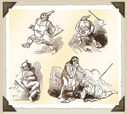 Cunto: Li dui fratielle (I). Lo scarafone, lo sorece e lo grillo
