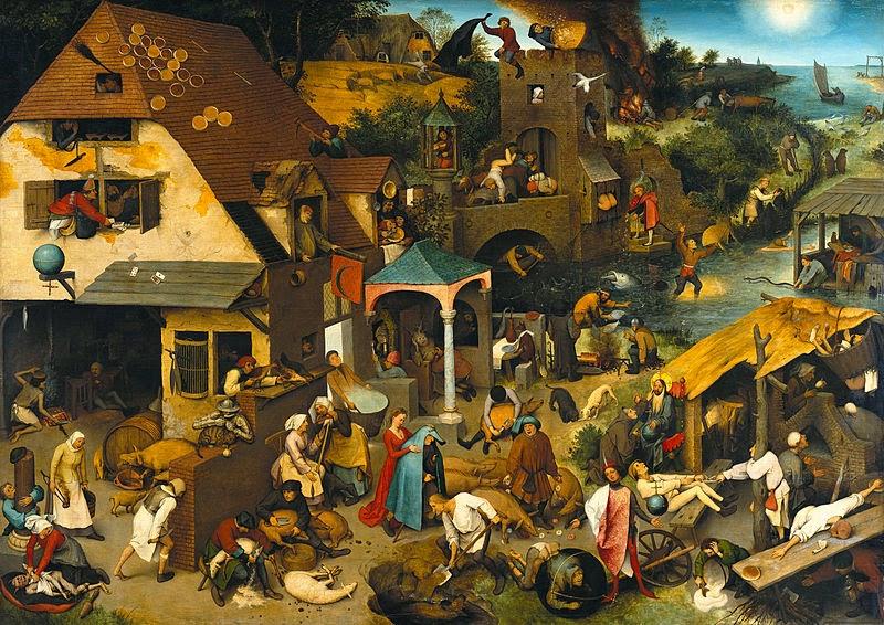 Pieter Bruegehl il Vecchio : Proverbi