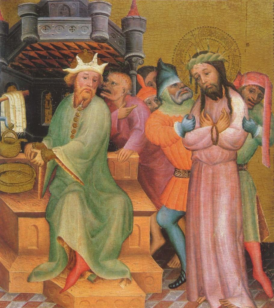 Pilato e Giuda: Gesù davanti a Pilato ( Bertram von Minden)