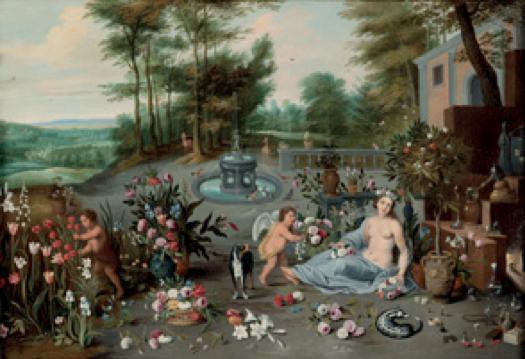 Jan Brueghel il Giovane: Allegorai dell'olfatto.