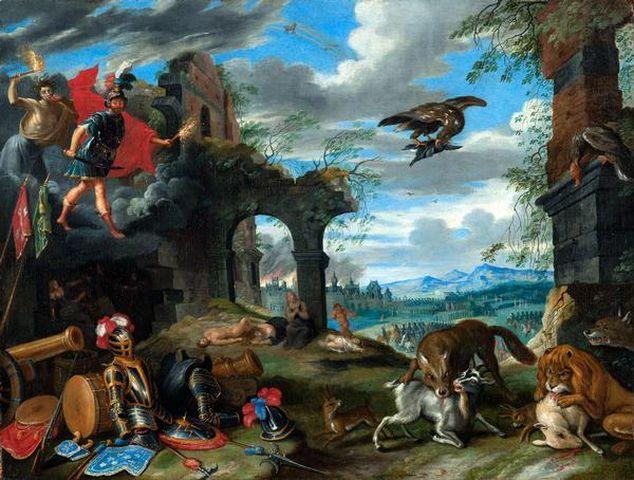 Jan Brueghel il Giovane: Allegoria della guerra.; 1640 circa.