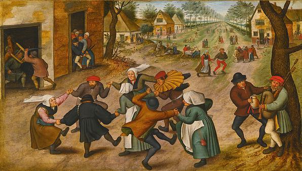 Brueghel (II) .Pieter Brueghel il Giovane: Festa contadina