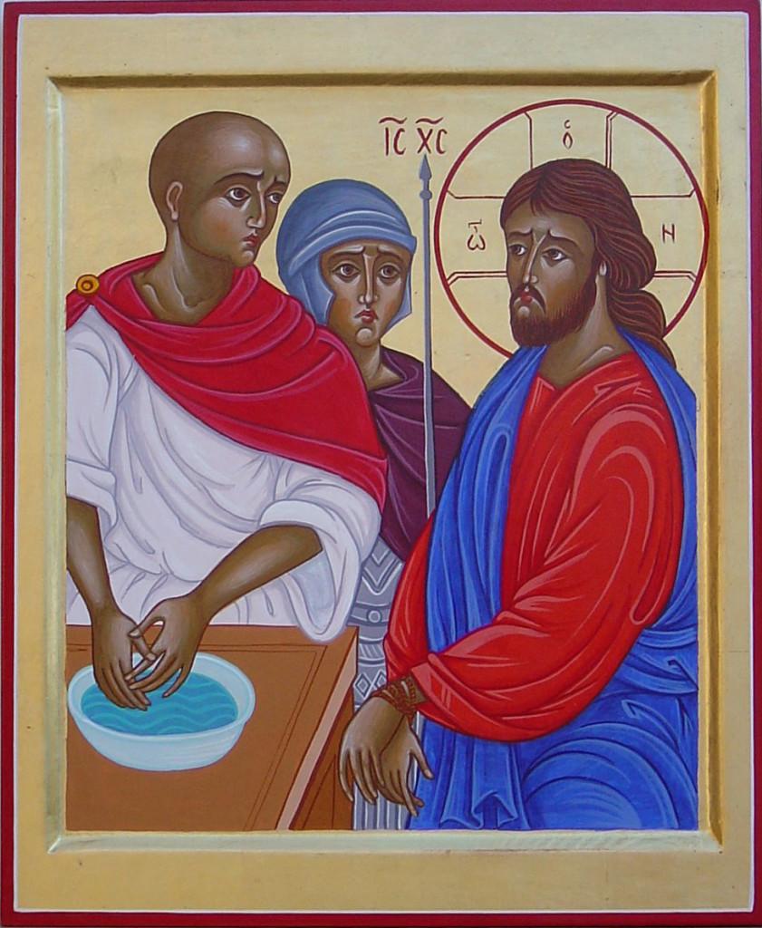 Pilato e Giuda (II). Gesù giudicato da Pilato (Etiopia)