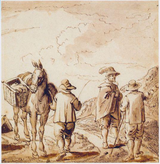 Brueghel(II). Jan Brueghel il Giovane: Incontro-tra-viaggiatori