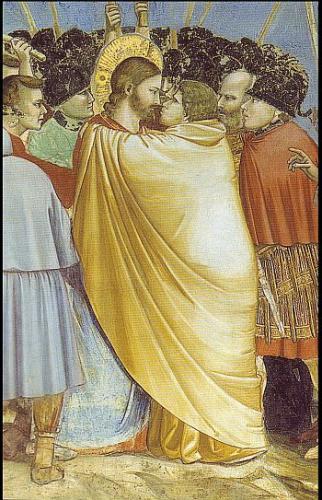 Pilato e Gesù (II) . Giotto (Cappella degli Scrovegni). Il bacio di Giuda