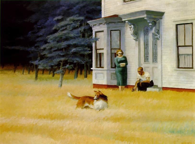 Edward Hopper (II) Vecchi coniugie con cane, a Cape Cod