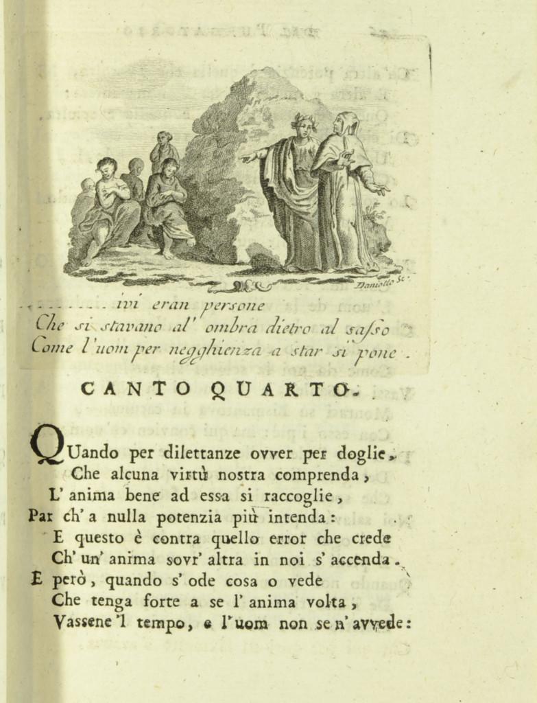 Omaggio a Dante (I) : Belacqua IV canto