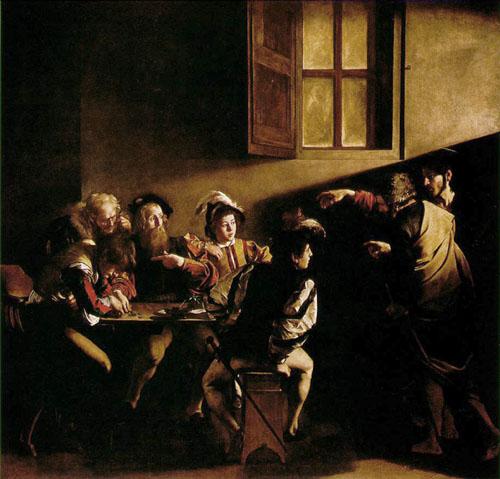 Caravaggio : Vocazione di Matteo