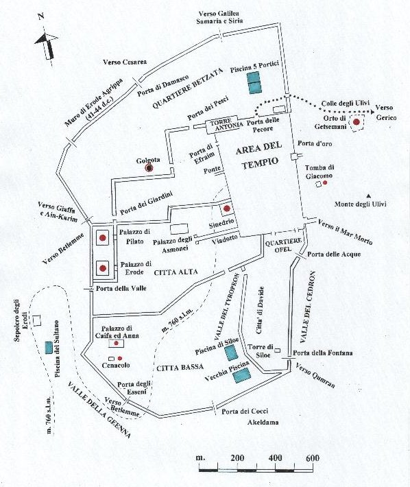 Pilato, Giuda e Matteo (I) :  Gerusalemme mappa
